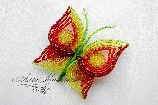 и рукоделие просмотр темы ищу схемы бабочки. вышивка бисером три гнома.